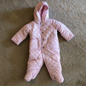 Ralph Lauren baby pink girls bunting snowsuit